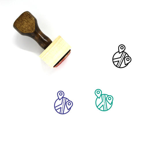 Location Wooden Rubber Stamp No. 176