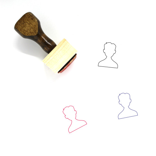 Male User Wooden Rubber Stamp No. 24