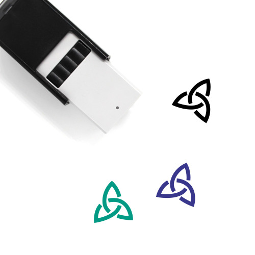 Triquetra Self-Inking Rubber Stamp No. 6