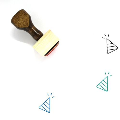 Celebrate Wooden Rubber Stamp No. 28