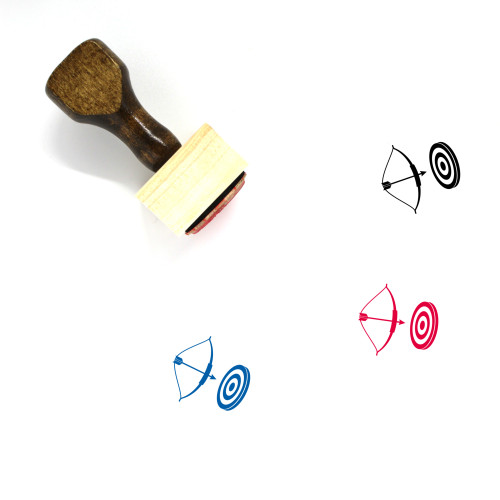 Archery Wooden Rubber Stamp No. 15