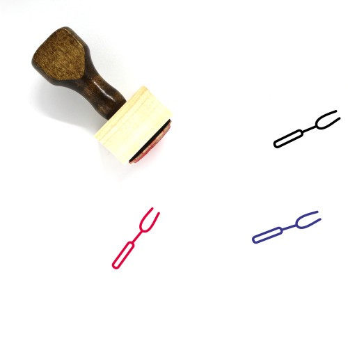 Barbecue Fork Wooden Rubber Stamp No. 4