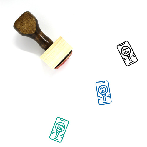 Competitor Wooden Rubber Stamp No. 5