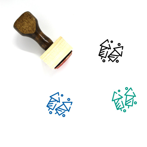 Celebrate Wooden Rubber Stamp No. 29