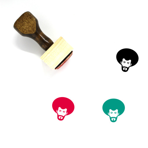 Afro Wooden Rubber Stamp No. 8