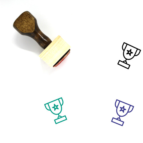 Trophy Wooden Rubber Stamp No. 387