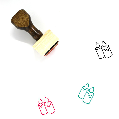 Candles Wooden Rubber Stamp No. 72