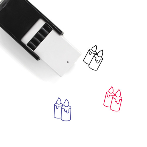 Candles Self-Inking Rubber Stamp No. 72