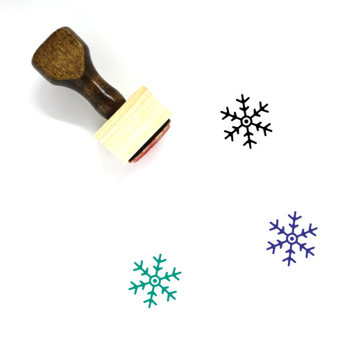 Snow Flake Wooden Rubber Stamp No. 19