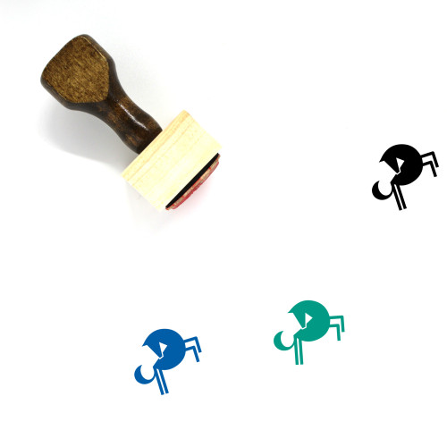 Horse Wooden Rubber Stamp No. 103