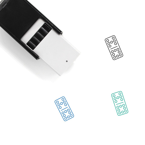 Domino Self-Inking Rubber Stamp No. 124