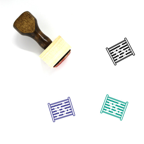 Abacus Wooden Rubber Stamp No. 17