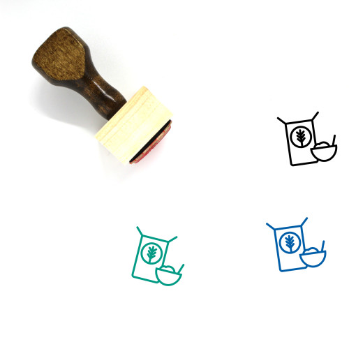 Cereal Wooden Rubber Stamp No. 28