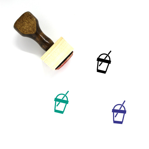 Smoothie Wooden Rubber Stamp No. 25