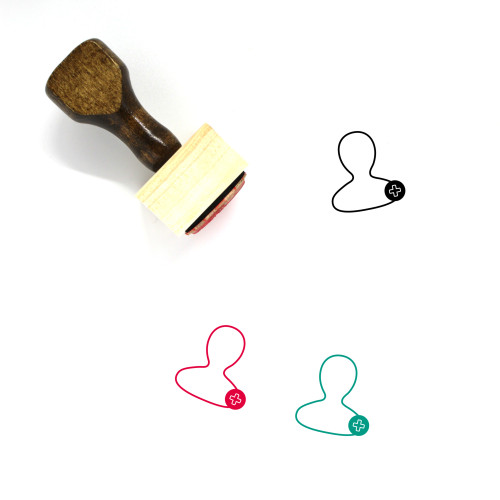 Add User Wooden Rubber Stamp No. 52