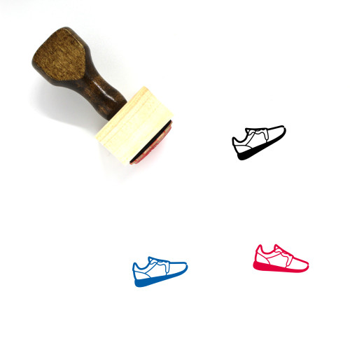 Sneaker Wooden Rubber Stamp No. 66