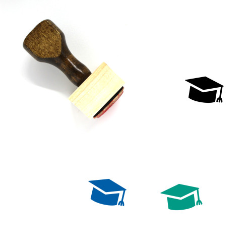 Mortarboard Wooden Rubber Stamp No. 26
