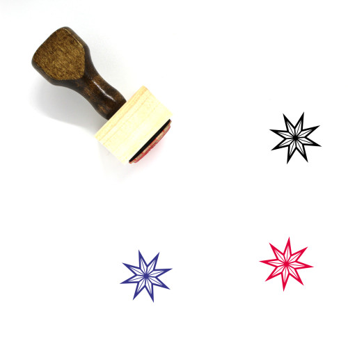 The Star Wooden Rubber Stamp No. 1