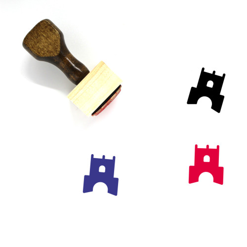 Fort Wooden Rubber Stamp No. 8