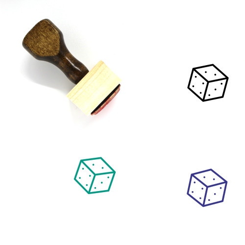 Dice Wooden Rubber Stamp No. 96