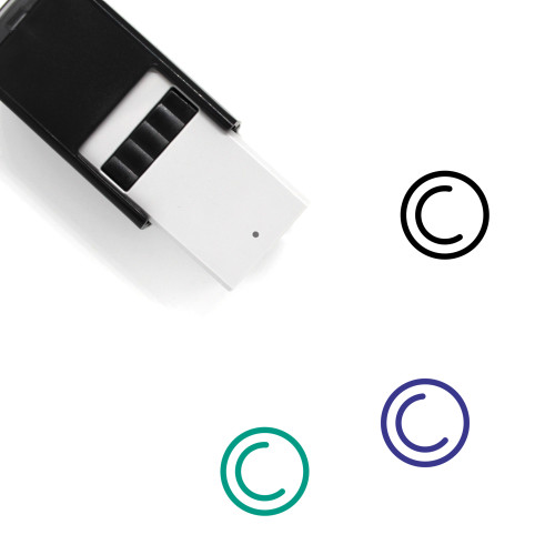 Copyright Icon Self-Inking Rubber Stamp No. 1