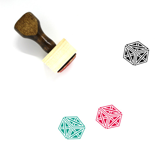Crate Double Braced Wooden Rubber Stamp No. 1