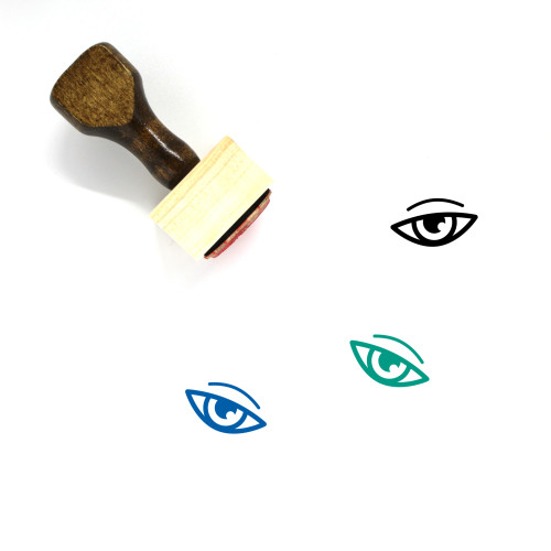 Eye Wooden Rubber Stamp No. 322