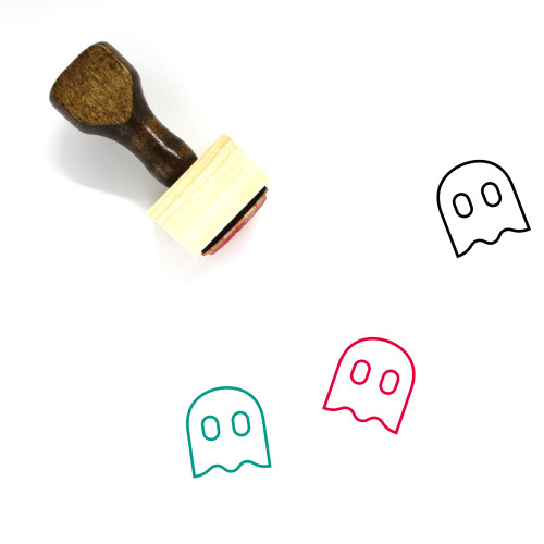 Ghost Wooden Rubber Stamp No. 124