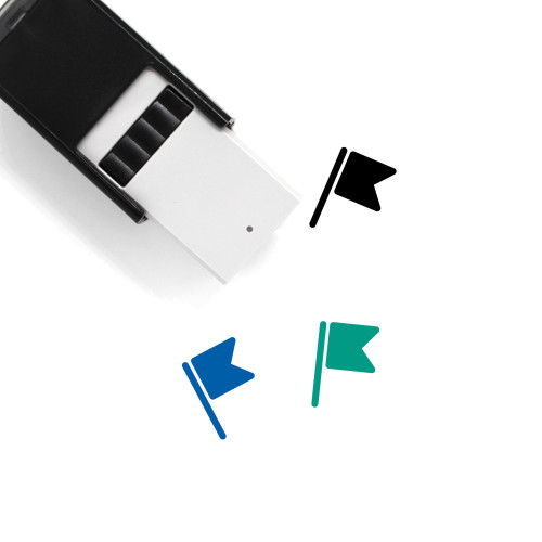 Flag Self-Inking Rubber Stamp No. 777