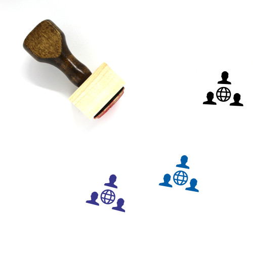 Social Network Wooden Rubber Stamp No. 5
