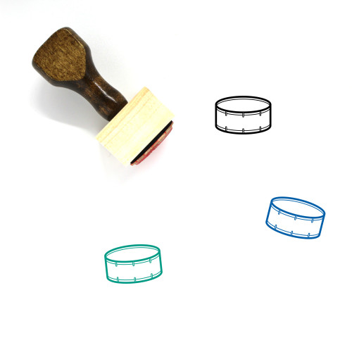 Snare Drum Wooden Rubber Stamp No. 4