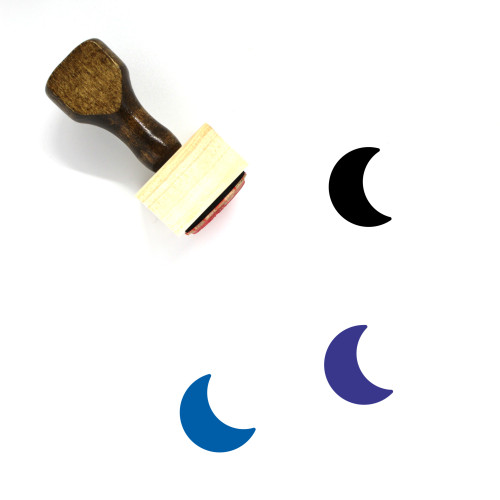 Moon Wooden Rubber Stamp No. 13