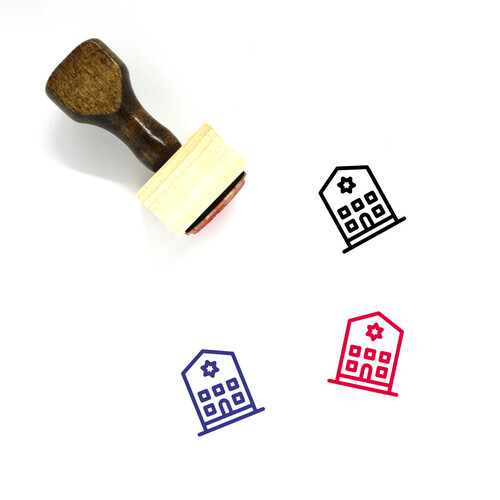 Synagogue Wooden Rubber Stamp No. 16