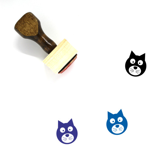 Cat Wooden Rubber Stamp No. 126