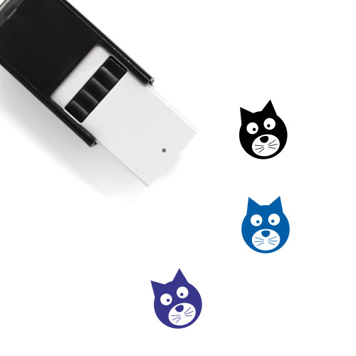 Cat Self-Inking Rubber Stamp No. 126