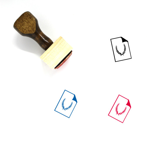 Diploma Wooden Rubber Stamp No. 31