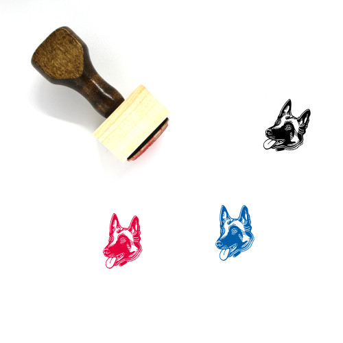 Belgian Malinois Wooden Rubber Stamp No. 1