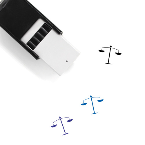 Justice Scale Self-Inking Rubber Stamp No. 46