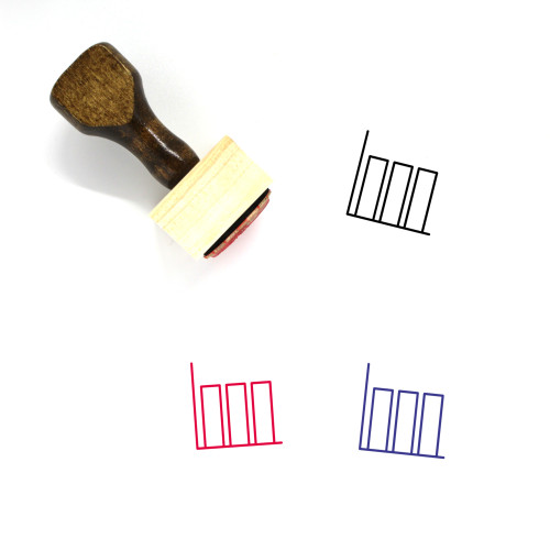 Bar Graph Wooden Rubber Stamp No. 47