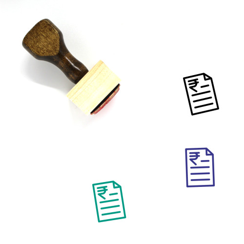 Rupee Loan Wooden Rubber Stamp No. 1