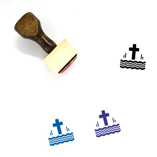 Baptized Wooden Rubber Stamp No. 1