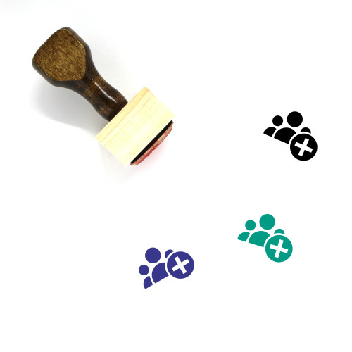 Add Group Wooden Rubber Stamp No. 2