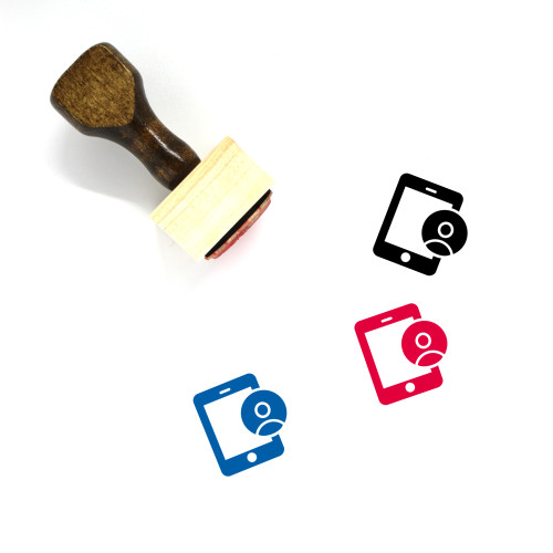 Mobile User Wooden Rubber Stamp No. 18