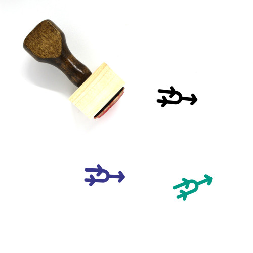 Arrow Merge Wooden Rubber Stamp No. 1