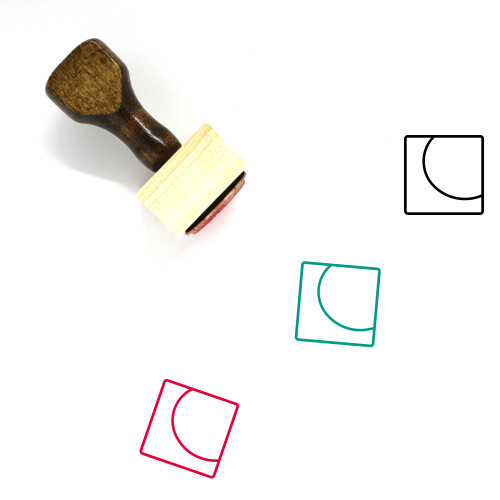Abstract One Wooden Rubber Stamp No. 1