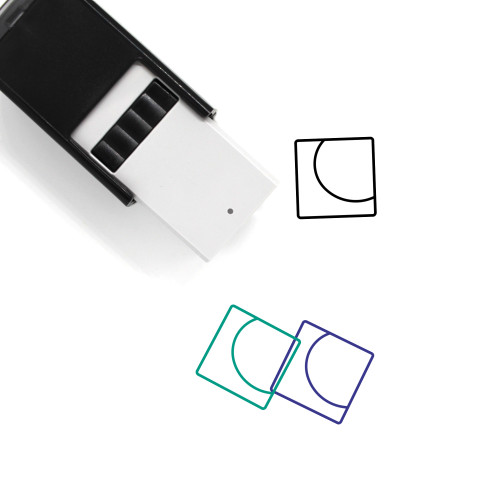 Abstract One Self-Inking Rubber Stamp No. 1