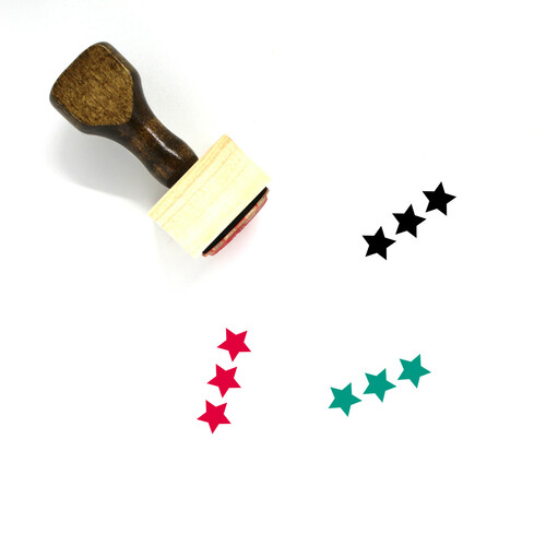 Stars Wooden Rubber Stamp No. 3