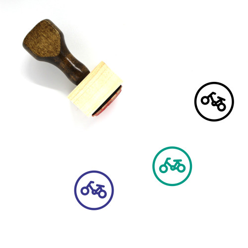 Bicycle Wooden Rubber Stamp No. 137