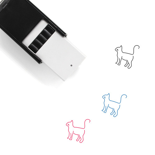 Cat Self-Inking Rubber Stamp No. 128