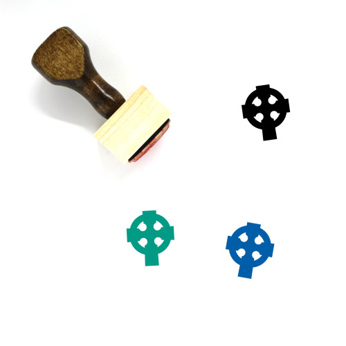Celtic Cross Wooden Rubber Stamp No. 7